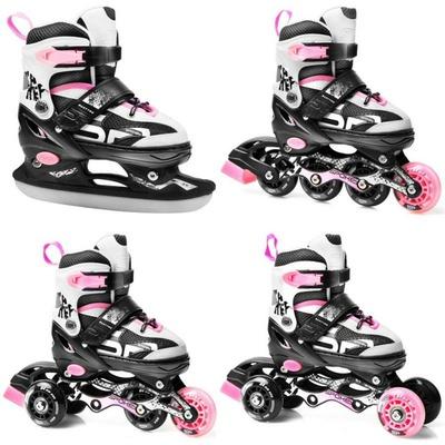 Skates Spokey QUATUTRO 4IN1 black-pink, adjustable, Spokey