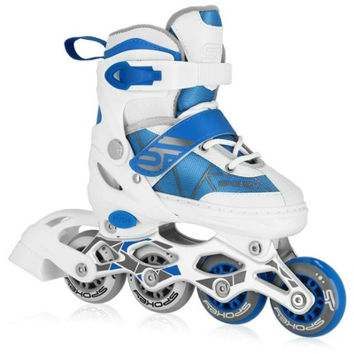 Roller skates Spokey TONY white and blue, Spokey