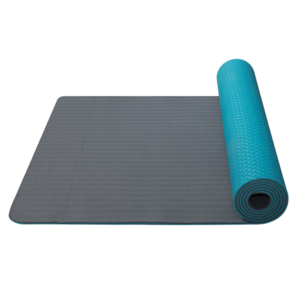 Mat to yoga Yoga Mat double-layer material TPE turquoise / gray, Yate