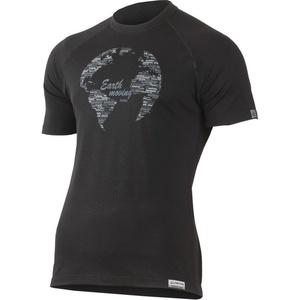 T-Shirt Lasting EARTH 9090 black merino, Lasting