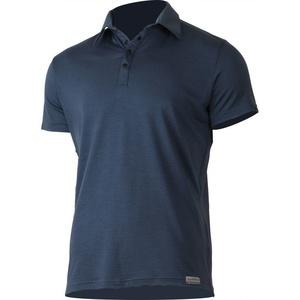 Men wool polo shirt Lasting ELIOT 5656 blue wool, Lasting