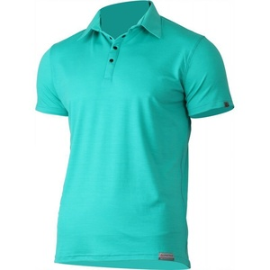 Men wool polo shirt Lasting ELIOT 6565 green, Lasting