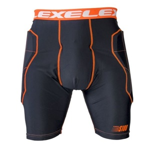 Golmanské pants EXEL S100 PROTECTION SHORT black / orange, Exel