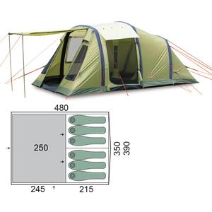 Family tent Pinguin Interval 6 Airtube Green, Pinguin