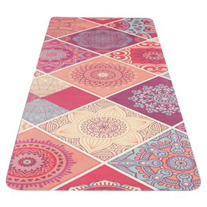 Mat to yoga YATE yoga mat pattern A / pink / natural rubber, Yate