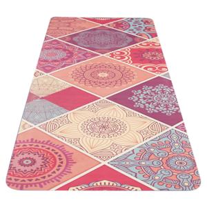Mat to yoga YATE yoga mat pattern A / pink / natural rubber, Yate