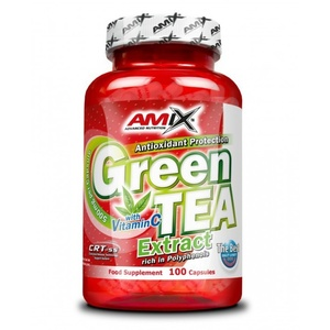 Amix Green TEA Extract with Vitamin C 100 capsules, Amix
