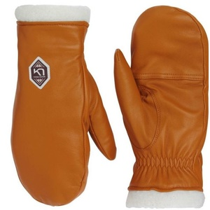 Women leather mittens Kari Traa Himle Rust, Kari Traa