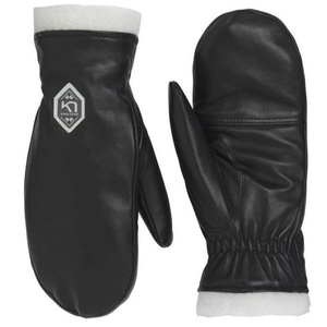 Women leather mittens Kari Traa Himle Black, Kari Traa