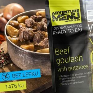 Adventure Menu Beef goulash with potatoes, Adventure Menu