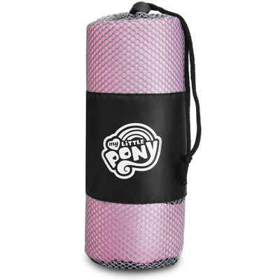 Quick-drying sports towel Spokey HASBRO PINKIE, black and white, Spokey