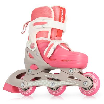 Kids roller skates Spokey NINO white-pink, ABEC1 Carbon, Spokey