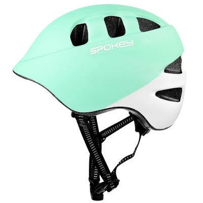 Children's cycling helmet Spokey CHERUB IN-MOLD, 48-52 cm, turquoise and white, Spokey