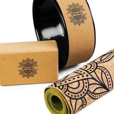 Cork Yoga SET Spokey SAVASANA, Spokey