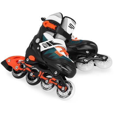 Roller skates Spokey TONY , black-green-orange, ABEC7 Carbon, size 28-32, Spokey