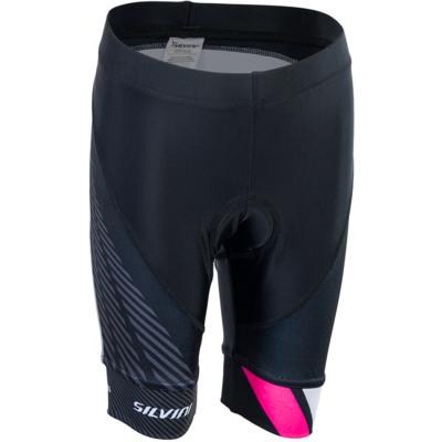 Children cycling pants Silvini Team CP1436 black / pink, Silvini