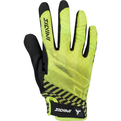 Men gloves Silvini GATTOLA MA1425 lime, Silvini