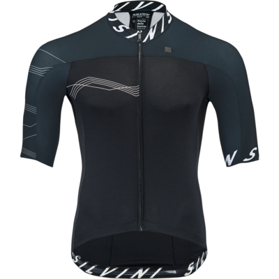 Men bike jersey Silvini Stelvio MD1604 black, Silvini