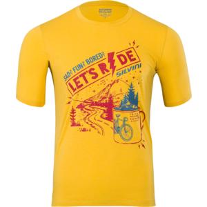 Men MTB shirt Silvini Berici MD1614 yellow-merlot, Silvini