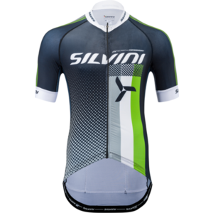 Men cycling jersey Silvini TEAM MD836 black-green, Silvini