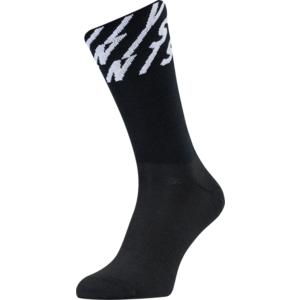 Cycling socks Silvini Oglio UA1634 black-white, Silvini