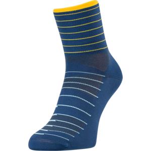 Cycling socks Silvini Bevera UA1659 navy-yellow, Silvini