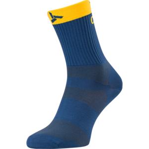 Cycling socks Silvini Orato UA1660 navy-yellow, Silvini
