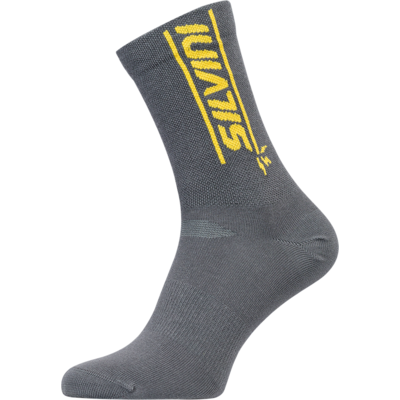 Cycling bulls socks Silvini Avella UA1815 charcoal / yellow, Silvini