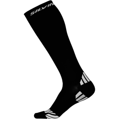 Compression knee socks Silvini Casalone UA562 black, Silvini