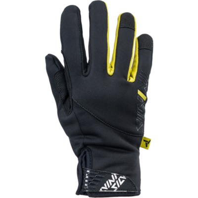 Women gloves Silvini Ortles WA1540 black-yellow, Silvini