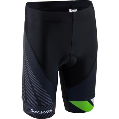 Children cycling pants Silvini Team CP1436 black / green, Silvini