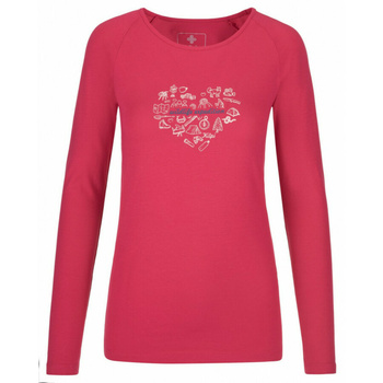Women's T-shirt long sleeve Kilpi INA-W pink
