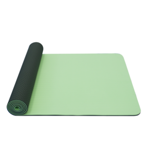 Mat to yoga YATE yoga mat double layer / green / material TPE, Yate