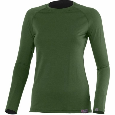 Women merino shirt Lasting Atila green