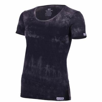 Women merino shirt Lasting BRENA-9090 black tie-dye, Lasting