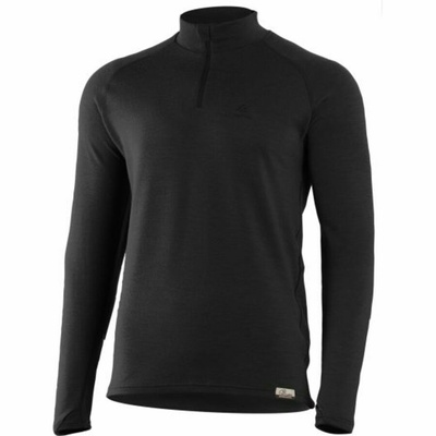 Men merino sweatshirt Lasting WIRY-9099 black