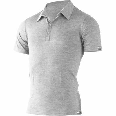 Men wool polo shirts Lasting ELIOT 8484 grey, Lasting