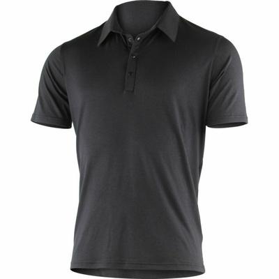 Men's merino polo shirts Lasting JARIS-9898 Black, Lasting