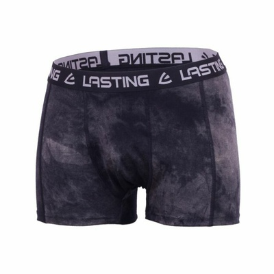Men merino boxer shorts Lasting BONO black, Lasting