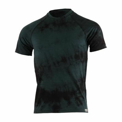 Men merino shirt Lasting Bokos black tie-dye