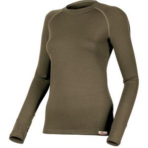 Merino Sweatshirt Lasting LENA 6363 green wool, Lasting