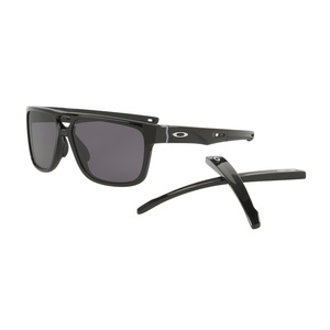 Sun glasses OAKLEY Crossrange Patch PolBlk w/ Warm Grey OO9382-0160, Oakley