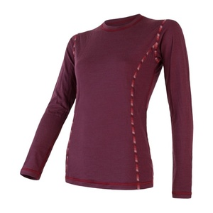 Women shirt Sensor MERINO AIR tm. wine 18200006, Sensor
