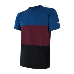 Men shirt Sensor MERINO AIR PT black / blue / burgundy 18200013, Sensor
