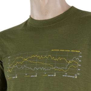 Men shirt Sensor MERINO ACTIVE PT TRACK safari 17200026, Sensor