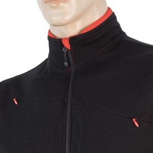 Men hoodie Sensor Merino Upper full-zip black 17200041, Sensor