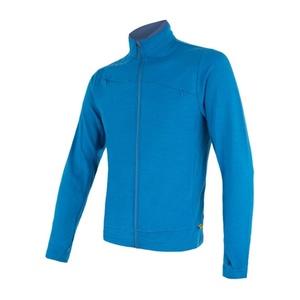 Men hoodie Sensor Merino Upper full-zip blue 17200042, Sensor