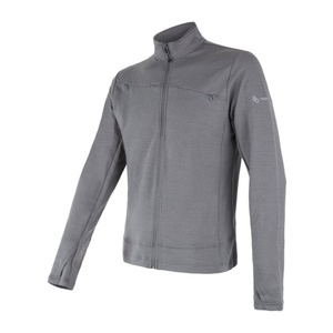 Men hoodie Sensor MERINO UPPER grey 18200035, Sensor