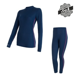 Women's set Sensor ORIGINAL ACTIVE SET shirt + underpants dark blue 17200053, Sensor