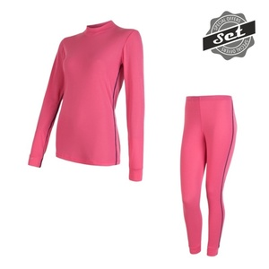 Women's set Sensor ORIGINAL ACTIVE SET shirt + underpants pink 17200054, Sensor